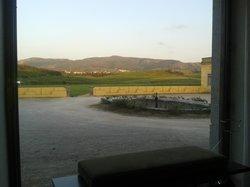 A vista panorâmica para as vinhas e Serra do Montejunto.