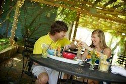 Enjoy Patio Dining under our Trellis!