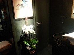 washroom.  Calm and clean