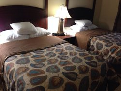Comfortable beds, but a little smaller than expected. A double, not a queen