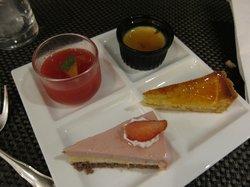 Desserts in exec lounge