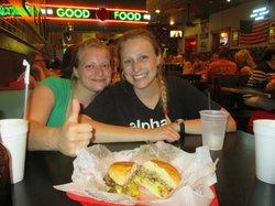 enjoying THE burger