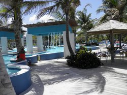large family pool with swim up bar1