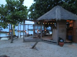 The beach side mini bar so you can chikk on the sand or one of many decks at waters edge