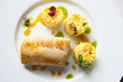 Black Cod with Saffron Risotto