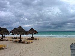 Rainty day on the beach
