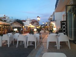 Down Papadiamanti Street From Lobby Bar