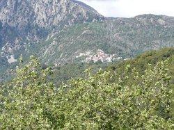 vue vers la montagne depuis le balcon