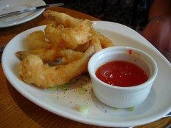 Tiger prawns tempura