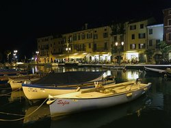 View Across Lazise's Port at Night (Oreste Suite near Center)