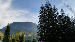 Mt. Kinabalu from the restaurant
