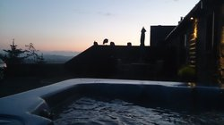 Sunset from the hot tub