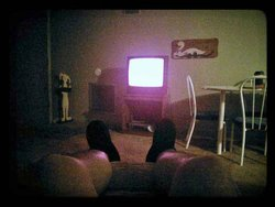 Kicking back in the apartment recliner