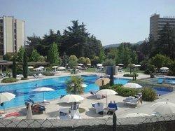 Panorama piscina termale esterna