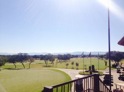 Golfcourse view from bar