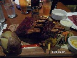 plate full of ribs