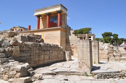 View of the Minoan Palace of Knossos, Crete