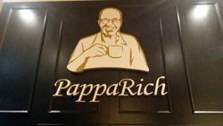 Papparich Logo on the wall