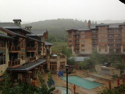 View from Balcony (yes it's snowing, in June)