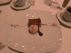 chocolate and hazelnut cake with anise aroma