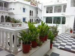 Inside the hotel premises