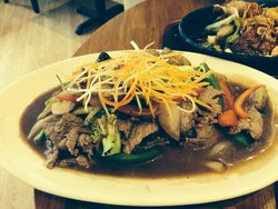 Beef in Oyster Sauce, amazing!