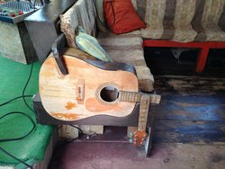 Furniture made from guitar parts