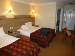 A twin room at the Corrs Corner Hotel