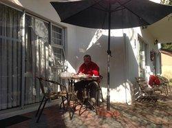 Breakfast in the winter sun
