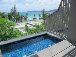 Ocean view with small outdoor pool