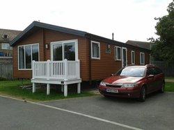 Our platimum caravan/ lodge. Lovely!