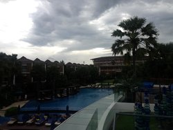 View of hotel and pool