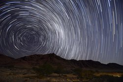 Star trails around the Southern Cross at Hoodia