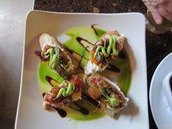Eggplant confit bruschetta