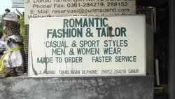 Romantic Fashions and Tailor