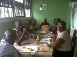 Association members having a meal