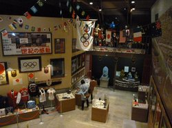昭和39年のオリンピックグッズ展示