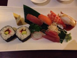 Part of set menu. Not so fresh sushi.