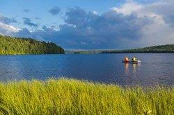 Canoeing on Hay Lake