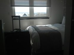 Small, euro style room but nice.  I could lay in bed and hang my feet out the window.