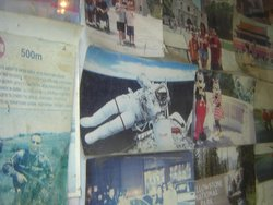 a snippet of the wall where Dougs banner has been displayed