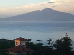 Vesuvius from our balcony