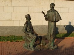 Monument to Sherlock Holmes and Dr. Watson