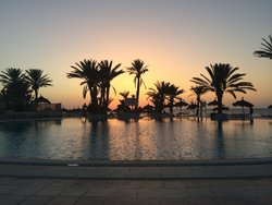 Pool at 5am (When putting sunbeds out)