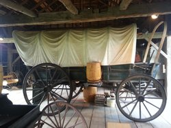 Covered Wagon in the Barn