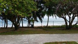 Vista desde los apartamentos hacia la playa