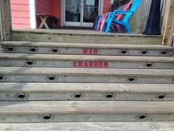 The front steps into the Mad Crabber. Very unique!