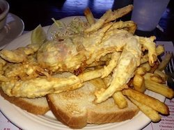 Chesapeake Bay softshell crab sandwich!  Forget the toast & make it lower carb, LOL!