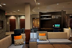 Lobby seating with boarding pass station