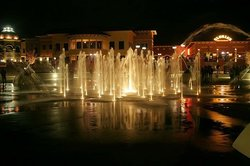 shops and fountains